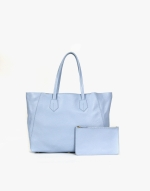 The Large Tote Pebble Steel Blue