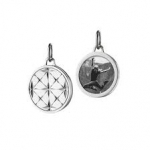 Sterling Mosaic Half Locket, Small