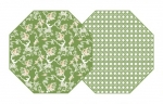 Saxon Green \Chinois\ Reversible Placemats, Set of 4