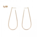 U-Shape Yellow Gold Earrings