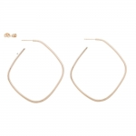 Yellow Gold Square Hoop Earrings