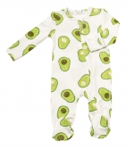 Avacado Zipper Footie, 3-6 Months