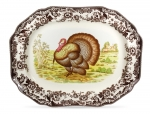 Woodland Turkey Octagonal Platter