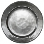 Pewter Stoneware Round Dinner