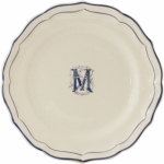 Filet Bleu Monogram Dinner Plate