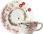 Bouquet Floral Breakfast Cup Saucer