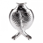 Silver Plated Two Fish Vase