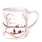 Country Estate Winter Frolic Ruby  Mug