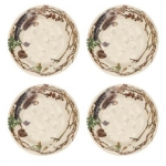 Forest Walk Party Plates, Set of Four