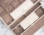 Caroline Large Ivory Jewelry Case