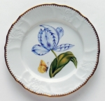 Old Master Tulips Purple and Blue Tulip Salad Plate