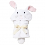 White Bunny Bath Wrap