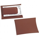 Brown Leather Wallet with Money Clip