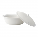 Berry & Thread Whitewash Oval Covered Casserole