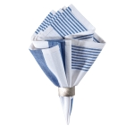 Classic Stripe Blue and White Napkin