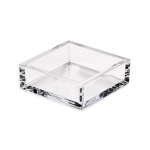 Acrylic Cocktail Napkin Holder in Crystal Clear
