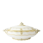 Elizabeth Gold Covered Vegetable Dish