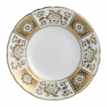 Derby Panel Green Bread and Butter Plate