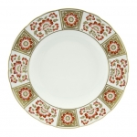Derby Panel Red Dinner Plate