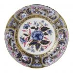 Imari Accent Blue Camellias Accent Plate