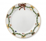 Star Fluted Christmas Dinner Plate