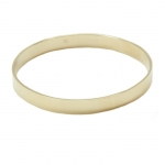 Large Gold Bangle Bracelet