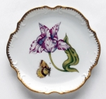 Old Master Tulips Pink and White Tulip Bread and Butter Plate