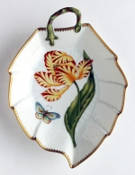 Old Master Tulips Yellow and Red Tulip Leaf Dish