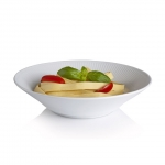 White Fluted Pasta Bowl