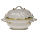Princess Victoria Green Tureen with Branch Handles