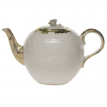 Princess Victoria Green 36 Ounce Tea Pot with Rose