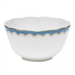Fish Scale Blue Round Bowl
