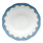 Fish Scale Blue Rim Soup Plate