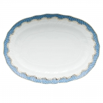 Fish Scale Blue 15\ Oval Platter