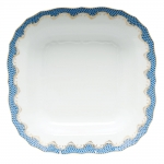 Fish Scale Blue Square Fruit Dish