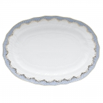 Fish Scale Light Blue 15\ Oval Platter