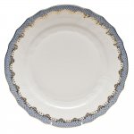 Fish Scale Light Blue Dinner Plate