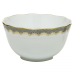 Fish Scale Gray Round Bowl