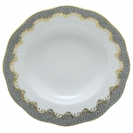 Fish Scale Gray Dessert Plate