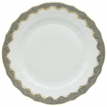 Fish Scale Gray Dinner Plate