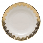 Fish Scale Gold Salad Plate