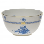 Chinese Bouquet Blue Round Bowl