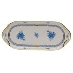 Chinese Bouquet Blue Sandwich Tray