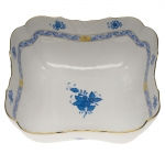 Chinese Bouquet Blue Square Salad Bowl