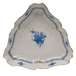 Chinese Bouquet Blue Triangle Dish
