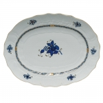 Chinese Bouquet Black Sapphire Oval Platter