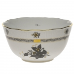 Chinese Bouquet Black Round Bowl