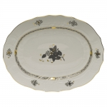 Chinese Bouquet Black 17\ Oval Platter