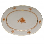 Chinese Bouquet Rust 15\ Oval Platter