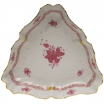 Chinese Bouquet Raspberry Triangle Dish